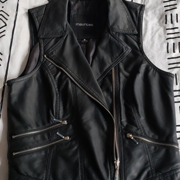 Maurices Jackets & Blazers - Faux Leather Vest